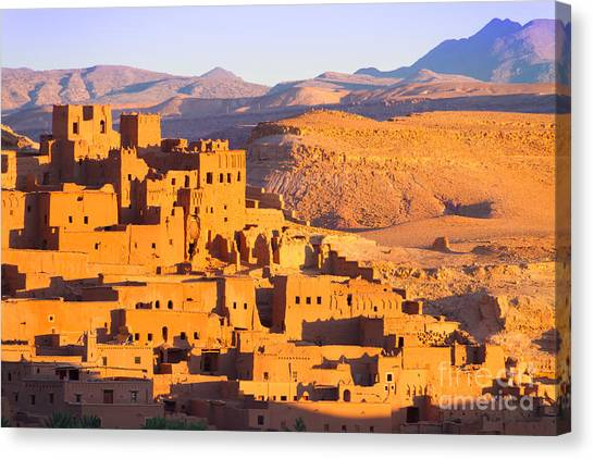 Fortification Canvas Print - Ait Benhaddou,fortified City, Kasbah Or by Matej Kastelic
