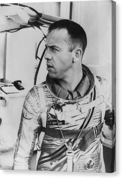 Protective Clothing Canvas Print - Alan Shepard by Central Press