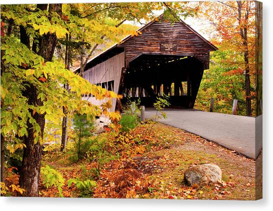 Albany Covered Bridge Near Conway, New Canvas Print by Danita Delimont