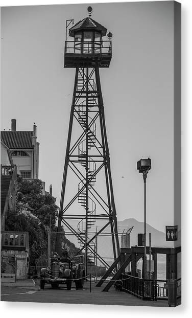 Alcatraz Light House Canvas Print