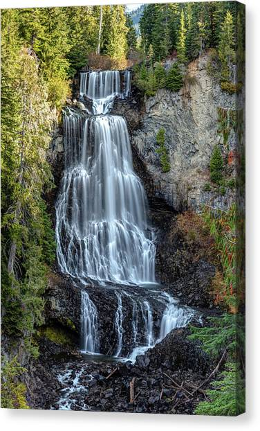Canvas Print featuring the photograph Alexander Falls Of The Callaghan Valley by Pierre Leclerc Photography