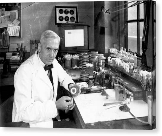 Alexander Fleming Canvas Print by Davies