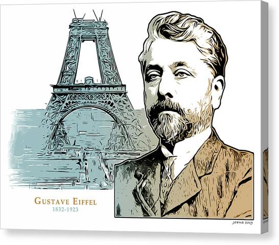 French Canvas Print - Alexandre Gustave Eiffel by Greg Joens