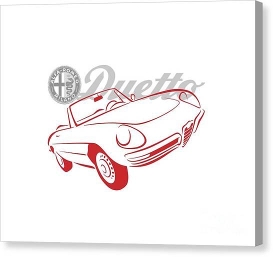 Alfa Duetto Spider-1 Canvas Print