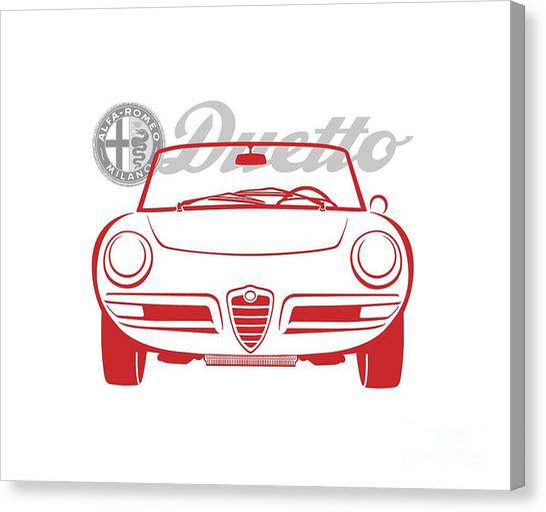 Alfa Duetto Spider-2 Canvas Print