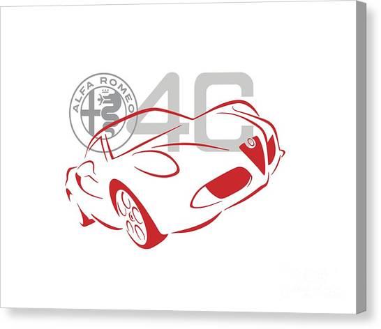 Alfa Romeo 4c-1 Canvas Print