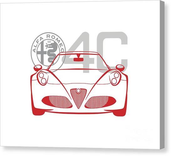 Alfa Romeo 4c-2 Canvas Print