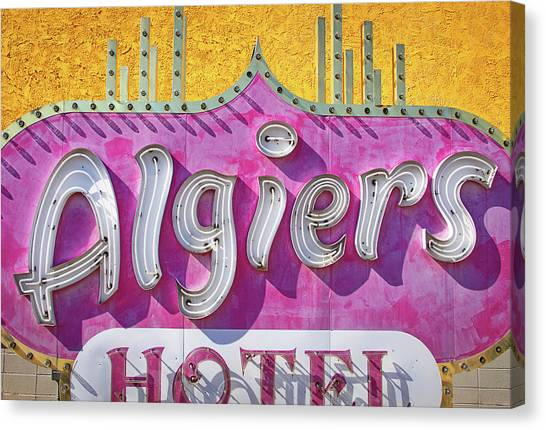 Canvas Print featuring the photograph Algiers by Skip Hunt