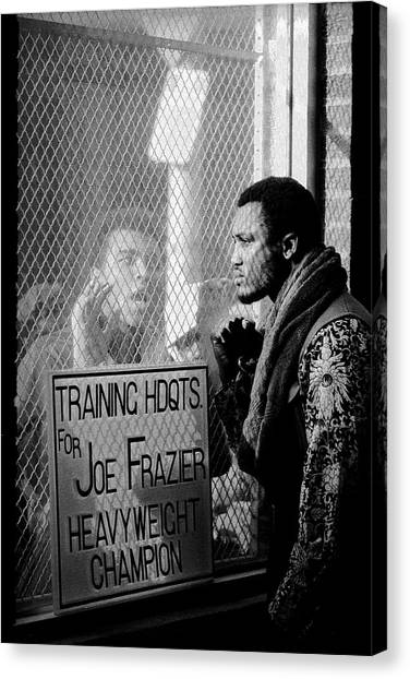 Joe Frazier Canvas Print - Ali Taunts Frazier by John Shearer