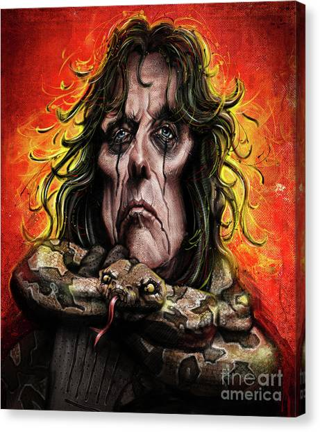 Alice Cooper Canvas Print - Alice Cooper by Andre Koekemoer