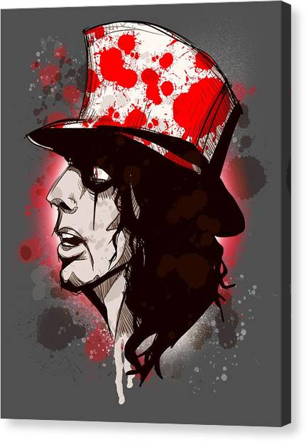 Alice Cooper Canvas Print - Alice by Ludwig Van Bacon