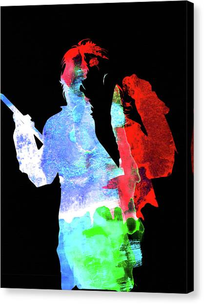 Alice Cooper Canvas Print - Alice Watercolor II by Naxart Studio