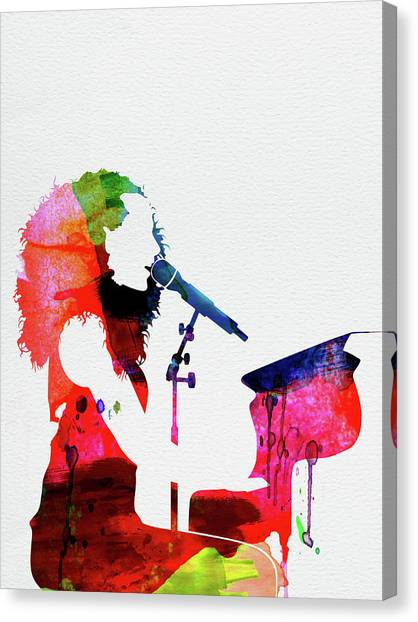 Rock Music Canvas Print - Alicia Keys Watercolor by Naxart Studio