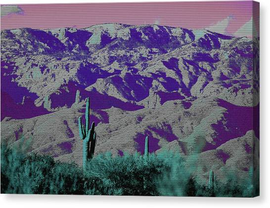 Canvas Print featuring the photograph Alien Colors On Mount Lemmon by Chance Kafka
