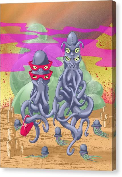 Alien Gothic Canvas Print