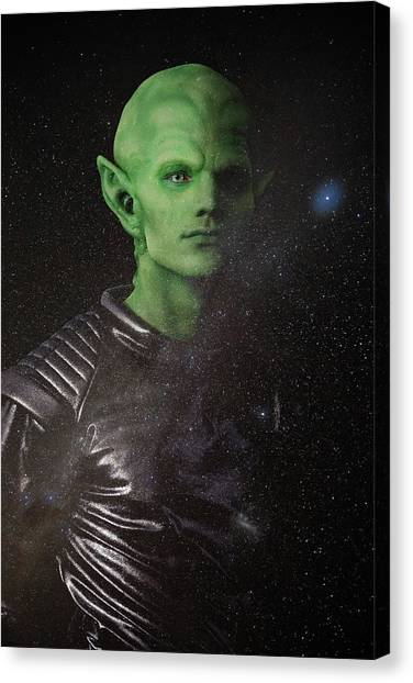 Canvas Print featuring the photograph Alien by Nicole Young