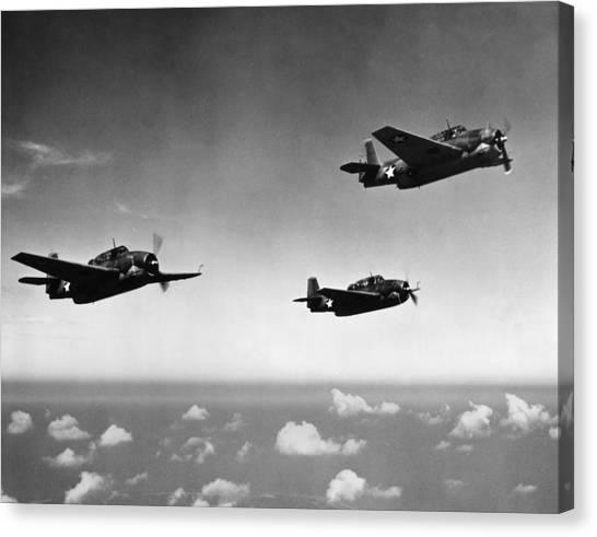 All Purpose Bomber Canvas Print by Hulton Archive