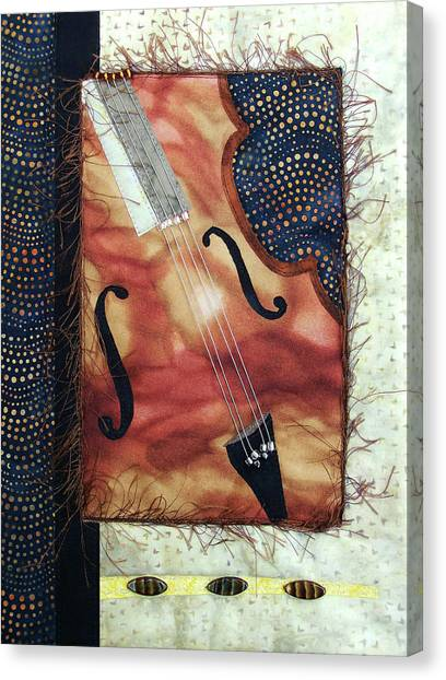 All That Jazz Bass Canvas Print