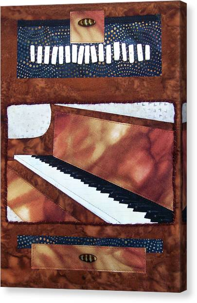 All That Jazz Piano Canvas Print