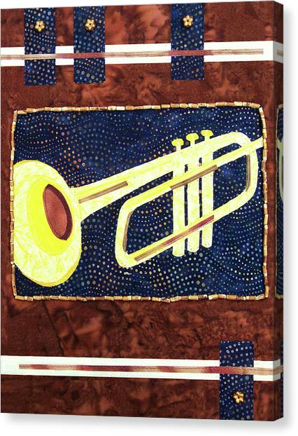 All That Jazz Trumpet Canvas Print