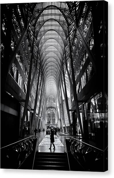Canvas Print featuring the photograph Allen Lambert Galleria Toronto Canada No 2 by Brian Carson