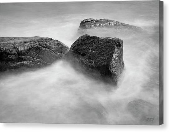 Canvas Print featuring the photograph Allens Pond Xxvi Bw by David Gordon