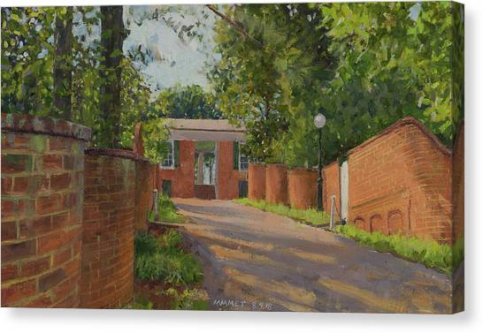 University Of Virginia Canvas Print - Alley Between Gardens Vi And Iv by Edward Thomas