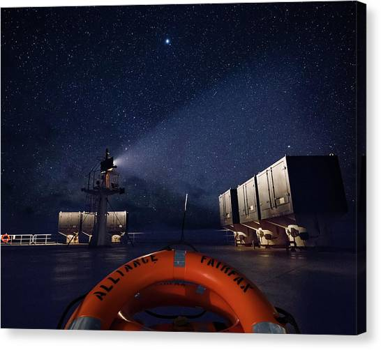 Canvas Print featuring the photograph Alliance Fairfax Starry Night by William Dickman