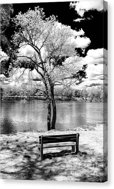 Along The River At Washington Crossing In New Jersey Canvas Print