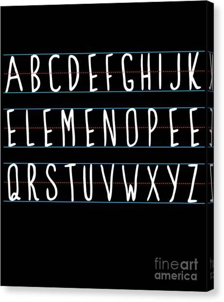 Alphabet Elemeno Canvas Print