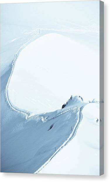 Alps Snow Mountain Adventure - Xlarge Canvas Print by Phototalk