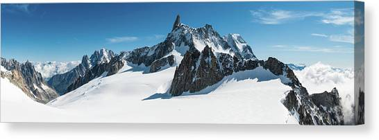Ice Climbing Canvas Print - Alps White Wilderness Dramatic by Fotovoyager