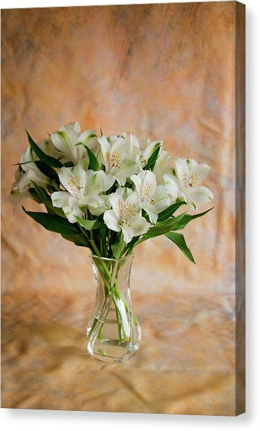 Alstroemeria Bouquet On Canvas Canvas Print