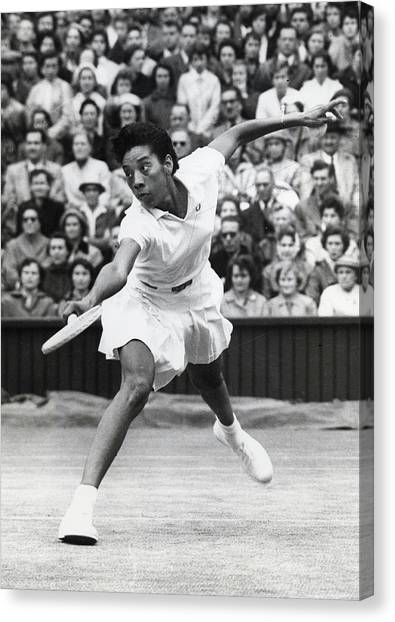 Althea Gibson Dies Canvas Print