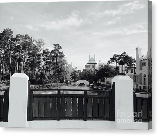 Canvas Print - Alys Beach Black And White by Megan Cohen