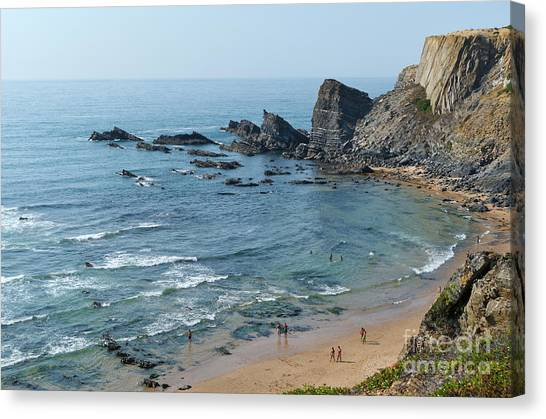 Amalia Beach From Cliffs Canvas Print