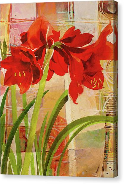 Amaryllis Canvas Print - Amaryllis Flower by Lutz Baar
