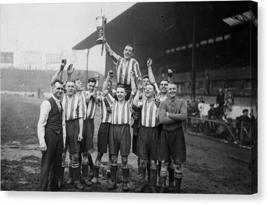 Stamford Bridge Canvas Print - Amateur Cup Win by J A Hampton