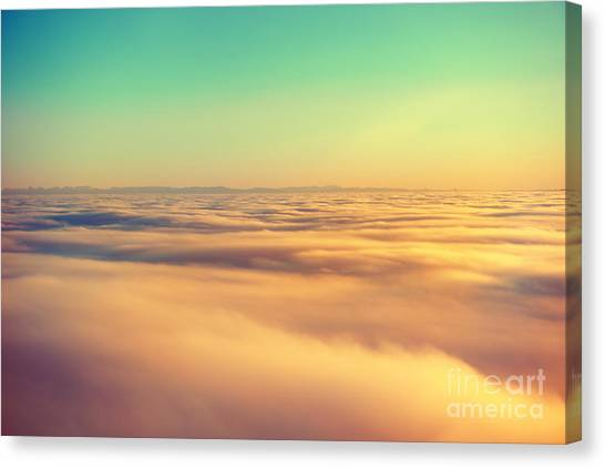 Atmosphere Canvas Print - Amazing View From Plane On The Orange by Beautiful Landscape