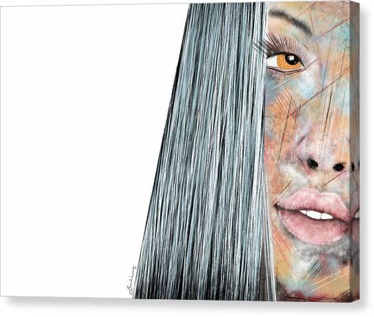 Amber Rose - Woman Abstract Art Canvas Print