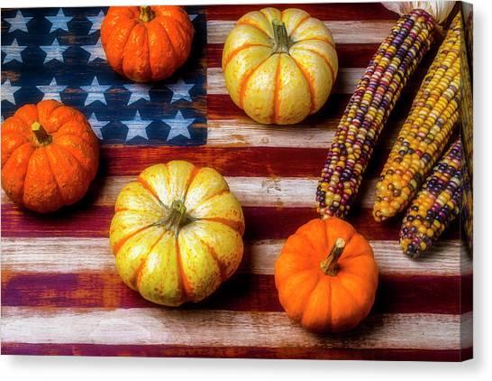 Gay Flag Canvas Print - American Autumn Harvest by Garry Gay