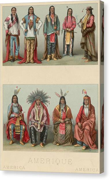 American Chiefs Canvas Print by Hulton Archive