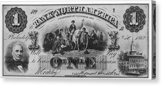 American Civil War Currency Canvas Print by Kean Collection