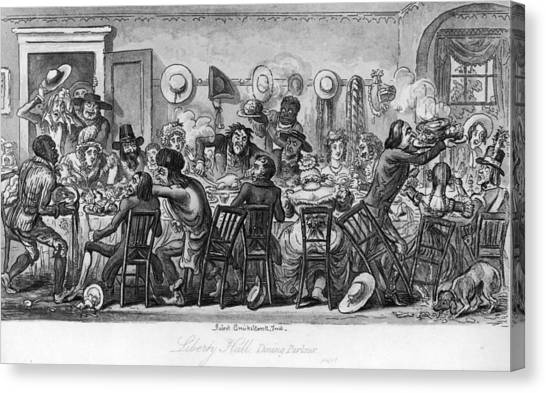 American Table Manners Canvas Print by Fotosearch
