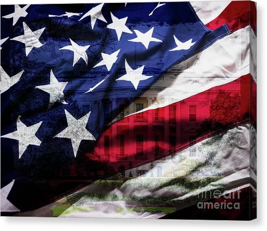 American White House Canvas Print