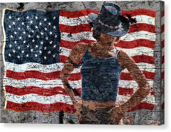 American Woman Canvas Print