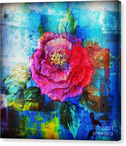 Canvas Print featuring the mixed media Amidst The Chaos by Sabine ShintaraRose
