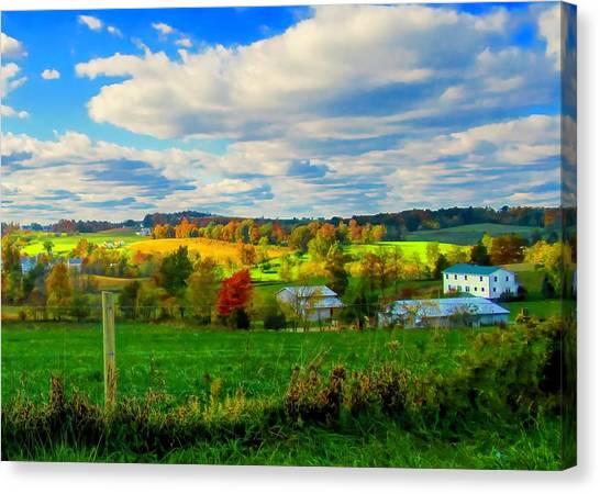 Amish Farm Beauty Canvas Print