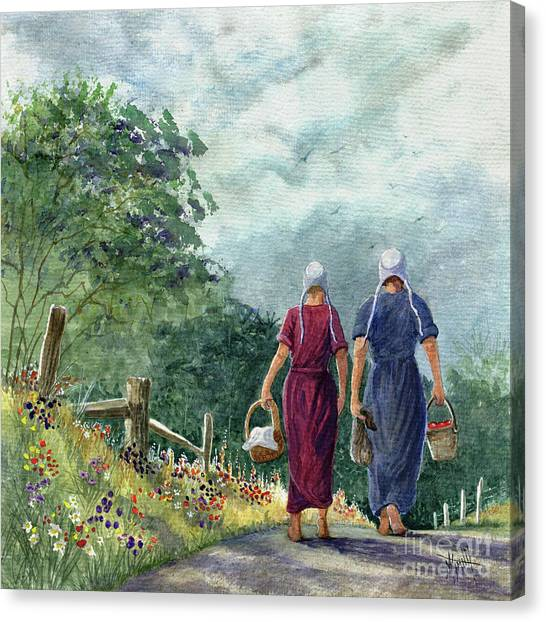 Canvas Print - Amish Way Of Life - Bearing Gifts by Marilyn Smith