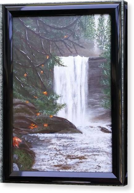 Ammonite Falls Canvas Print